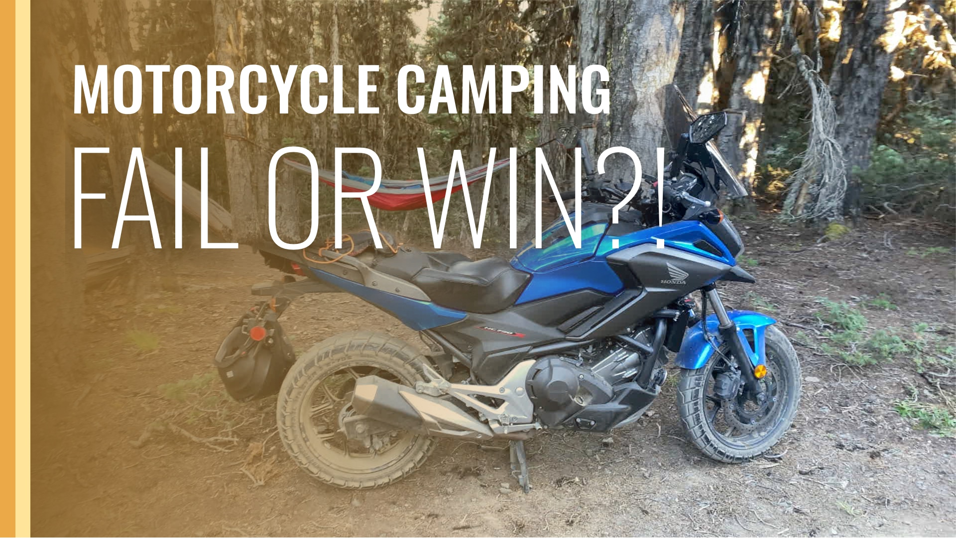 video link to YouTube for motorcycle camping video